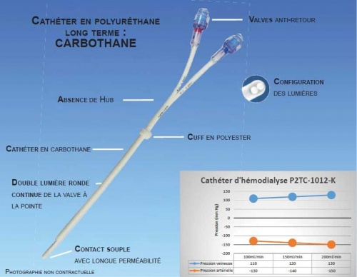Pediatric long term haemodialysis catheter